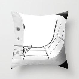 Yacht. Black & White Photography. Throw Pillow