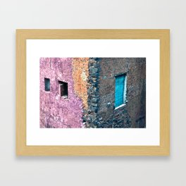Sicilian Facade in the parc of Villa Bellini in Catania Framed Art Print