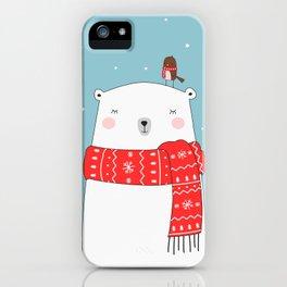 POLAR BEAR&LITTLE BIRD CHRISTMAS iPhone Case