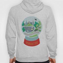 Manhattan souvenir, snow globe, NYC, New York CIty Hoody