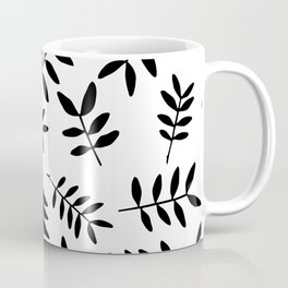 Black branch silhouettes on white background Coffee Mug