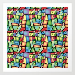 Stained-glass Art Print