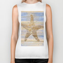 Starfish Beach Lake House Coastal Art A179 Biker Tank