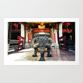 Chineese Temple Monument Art Print