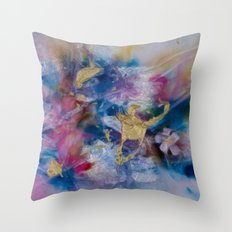 Golden Harvest Painting Throw Pillow