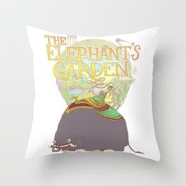 The Elephant's Garden - Version 2 Throw Pillow