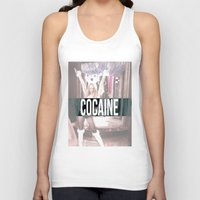 cocaine Tank Tops featuring Cocaine by Randall Hansen