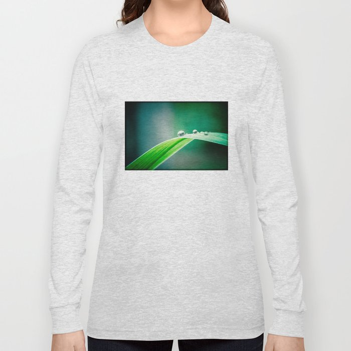 of green and blue Long Sleeve T-shirt