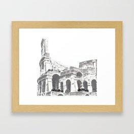 Tourists on the Coliseum Framed Art Print