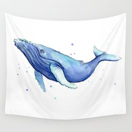 Nursery-Art-Print-Humpback-Whale-Watercolor-Painting-Sea-Creatures Wall Tapestry