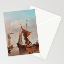 Willem van de Velde the Younger - Calm lake Stationery Cards