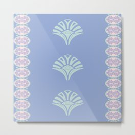 S6 Abbey Chic Classique Pattern (green) Metal Print