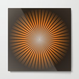 Star Brown Metal Print