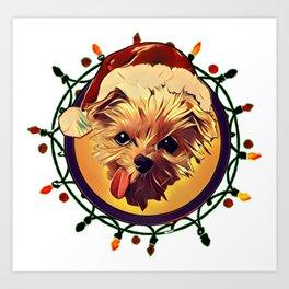 Christmas Dog T-Shirt Art Print
