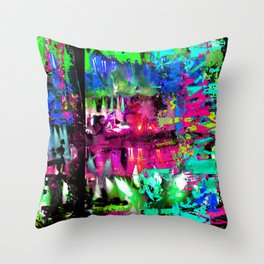 Caspian 80s Throw Pillow