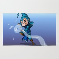 bender Area & Throw Rugs featuring Water Bender by MDDesigns