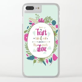 """Here's My Heart"" Hymn Lyric Clear iPhone Case"