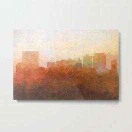 Newport News, Virginia Skyline- In the Clouds Metal Print