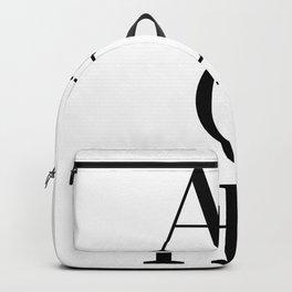 Black And White Aloha Hawiian Tropical Backpack