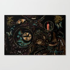 Collage in the Dark  by Sherri Of Palm Springs Canvas Print