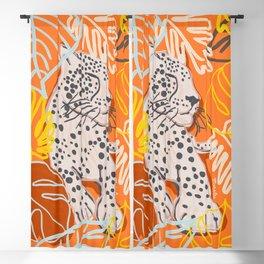 Orange Jaguar Totem Blackout Curtain