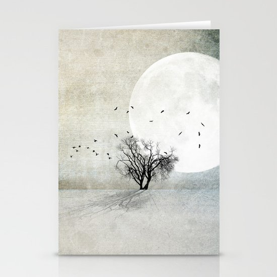 Only the Moon Knows Stationery Cards