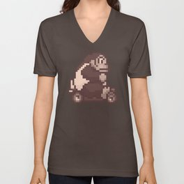 Pixelated Super Mario Kart - Donkey Kong Unisex V-Neck