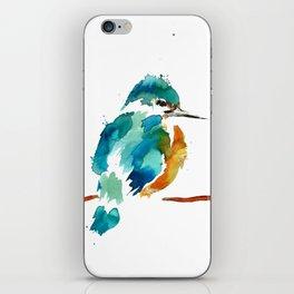 Golden Kingfisher iPhone Skin