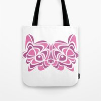 pomeranian Tote Bags featuring Pomeranian by anglia