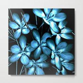 Wildflowers In The Night Light Metal Print