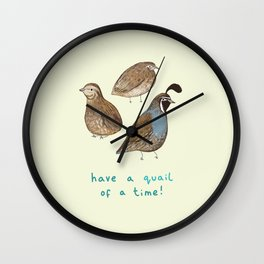 Quail of a Time Wall Clock