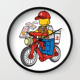 Delivery Boy Wall Clock