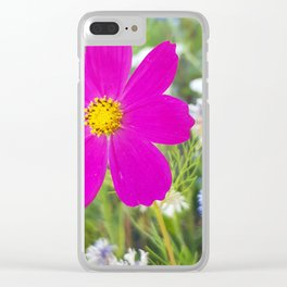 Flowers Go Wild in Wimbledon 5 - Cosmos the bold Clear iPhone Case