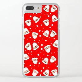 Whirling Santas Clear iPhone Case