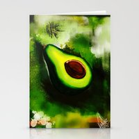 avocado Stationery Cards featuring Avocado by Marven RELOADED