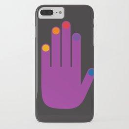 Purple Pop Hand iPhone Case