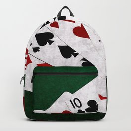 Poker Four Of A Kind Ten Six Backpack