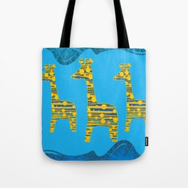 Giraffe Abstract Tote Bag
