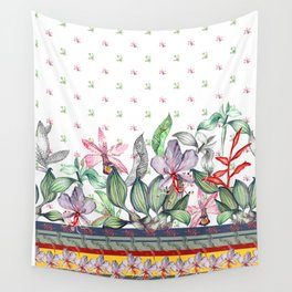 Flowers pattern Wall Tapestry