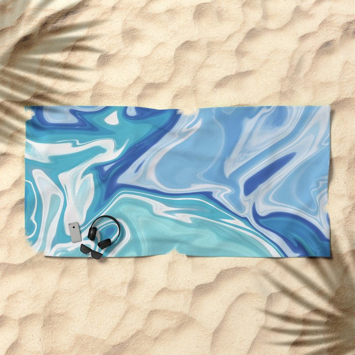 MARBLE - SEA - CLOUDS - SMOKE - WAVES Beach Towel