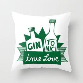 Gin Tonic True Love Throw Pillow