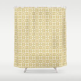 Lines and Shapes - Sunflower Shower Curtain