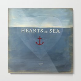 Hearts at Sea Metal Print