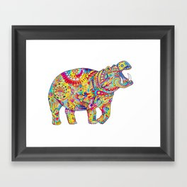 Hippo: Spirit of Confidence Framed Art Print