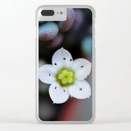 Petite Petals Clear iPhone Case