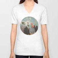 garden V-neck T-shirts featuring Secrets by Douglas Hale