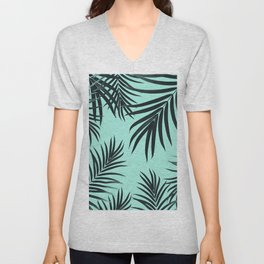 Palm Leaves Pattern Summer Vibes #7 #tropical #decor #art #society6 Unisex V-Neck