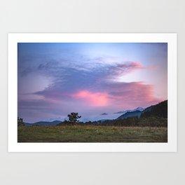 Sunset over the Caucasus Mountain Range Art Print