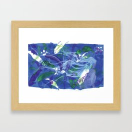 ghost lady among plants Framed Art Print