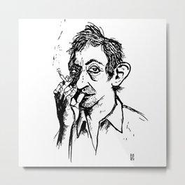 Monsieur Gainsbourg Metal Print